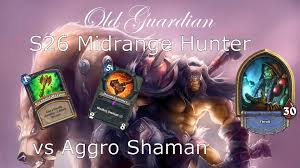 Overload Shaman Deck Frozen Throne by Hearthstone Standard S26 Midrange Hunter Vs Aggro Shaman The