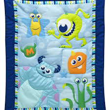 Finding Nemo Crib Bedding by Monsters On The Go 3 Piece Crib Bedding Set Disney Baby