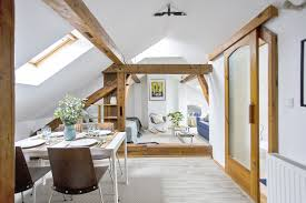 100 Bachelor Appartment Cozy Attic Pad With Original Wood Beams IDesignArch