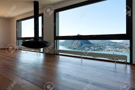 moderne wohnung ein großes wohnzimmer mit panoramafenster