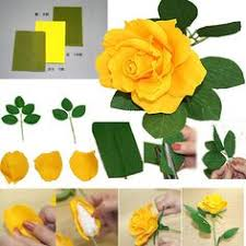 Yellow Rose Of Texas Paper Flowers Origami