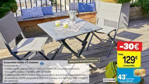 chaises carrefour carrefour promotion ensemble table 2 chaises produit maison