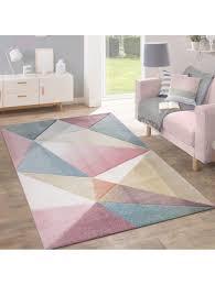 paco home teppich kurzflor modern trendig pastell geometrisches design inspiration multi klingel