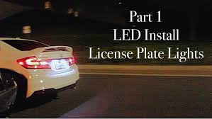 2015 honda civic si how to replace license plate light bulbs w