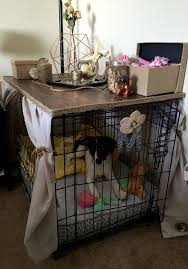 diy dog crate cover that u0027s a table no sew super easy buy a
