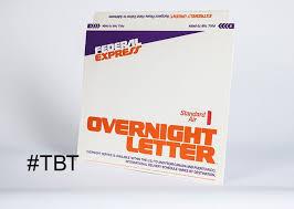 fedex overnight letter