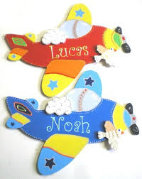 plaque de porte chambre bébé plaque de porte avion décoration personnalisée pour chambre de