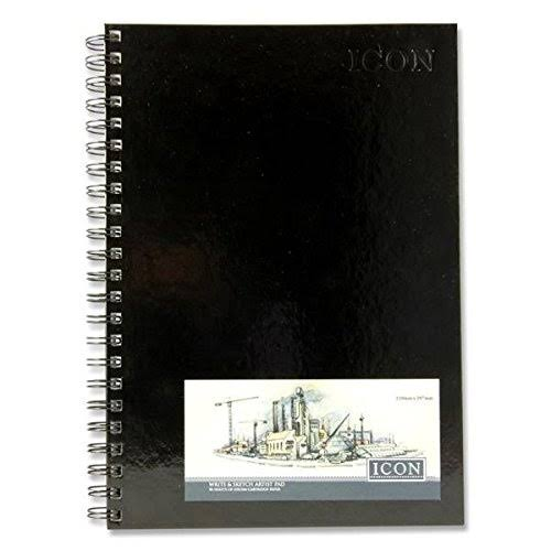 A4 Hardback Icon Sketch Pad
