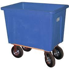 128 Gallon (16 Bushel) Blue Plastic Box Truck, 8