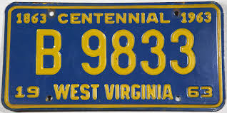 100 Truck License 1963 West Virginia Plate Brandywine General Store