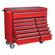 Central Pneumatic Blast Cabinet by 44 In 13 Drawer Glossy Red Industrial Roller Cabinet