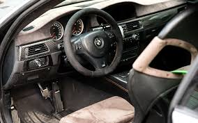 View of the interior of the BMW M3 E92 from the driver s door the