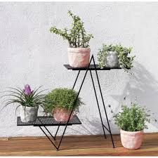 Outdoor Patio Plant Stands by Angled Plant Stand In Outdoor Cb2 Home Decor Pinterest