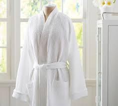 Short Waffle Weave Resort Robe