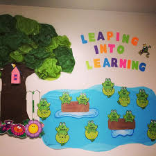 Leaping Into Learning Toddler Classroom Decorations Birthday Wall