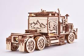 100 Model Semi Truck Kits Wooden Puzzle Big Rig Model Semi Truck Kits To Build Wood Trick