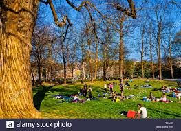 100 The Lawns Italy Piedmont Turin Valentino Park People On The Lawns