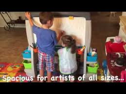 Step2 Art Easel Desk Canada by Junior Artists Review Of The New Step2 Jumbo Art Easel Youtube