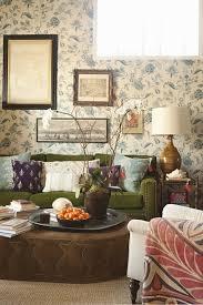Moss Green Velvet Sofa In Room By Peter Dunham