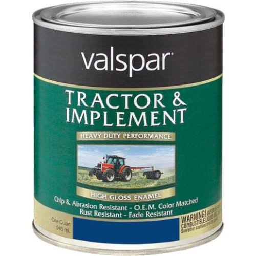 Valspar 4432-12 Tractor and Implement Paint - Ford Blue, 1qt