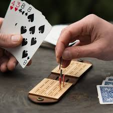 Travel Cribbage Board Leather Games