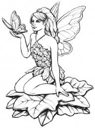 Coloring Page Fairy And Butterfly Free To Print