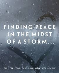 Finding Peace In The Midst Of A Storm
