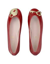 pretty ballerinas red patent ballerina shoes in red lyst
