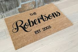 Personalized Doormat Custom Doormat Last Name Gift Wel e
