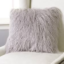 Styles Soft Mongolian Lamb Pillow For Inspiring Smooth Fur
