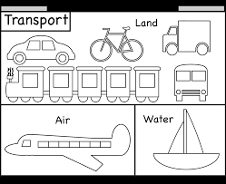 Download Coloring Pages Transportation For Preschool Line Drawings