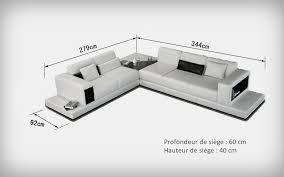 taille canapé canapé d angle design en cuir arezzo xl table intégrée pop design
