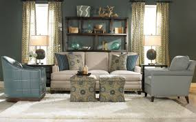 Transitional Living Room Sofa by Impressive Custom Wooden Wall Shelves With Cream Three Seater