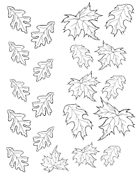 Christmas Leaves Outline Coloring Pages Item