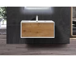 badmöbel unterschrank inkl waschtisch indoleo eiche weiß
