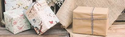 Pretty Vintage Wrapping Paper Brown For Wedding Crafting Projects