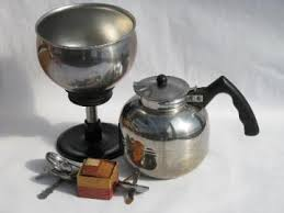 Vintage Stainless Steel Coffee Pot Mirro Cory Percolator W Extra Filter Disks