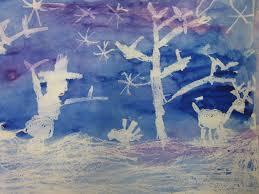 1st Grade Winter Art