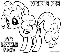 Pinkie Pie Pony Coloring Pages My Little Sheet