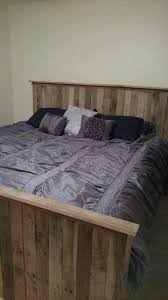 Pallet Bed Frame by King Size Pallet Bed With Crate Storage 101 Pallets