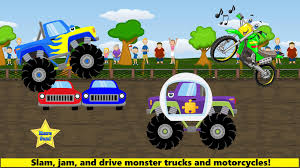 100 Kids Monster Trucks Games For Toddler Free For Android