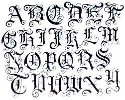 Old English Lettering Amazing As Well Interesting How To Draw Letters Tattoo