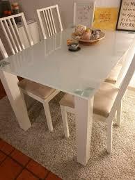 glastisch silber weiß tisch esstisch gebraucht wie neu ohne stühl