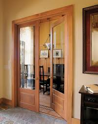 Brilliant Solid Wood Doors Interior For Cozy Dining Room With Dark Chairs And Long Black Table