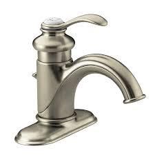 Kohler Fairfax Bathroom Faucet Aerator by Shop Kohler Fairfax Vibrant Brushed Nickel 1 Handle 4 In Centerset
