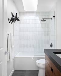 Vertical Stacked Subway Tile Installation Trend | Apartment Therapy Beautiful Ways To Use Tile In Your Bathroom A Classic White Subway Designed By Our Teenage Son Glass Vintage Subway Tiles 20 Contemporary Bathroom Design Ideas Rilane 9 Bold Designs Hgtvs Decorating Design Blog Hgtv Rhrabatcom Tile Shower Designs Vintage Ideas Creative Decoration Shower For Each And Every Taste 25 Small 69 Master Remodel With 1 Large Mosiac Pan Niche House Remodel Modern Meets Traditional Styled Decorating
