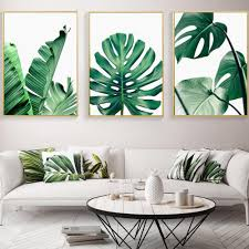 walldecor monstera leaf palm scandinavian style canvas print