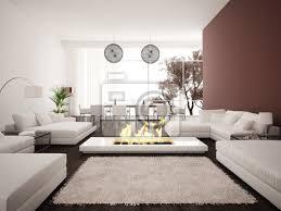 fototapete modernes design wohnzimmer innenraum mit kamin