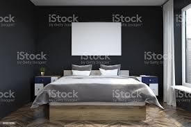 schwarze wand schlafzimmer interior poster stockfoto und mehr bilder architektur