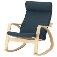 POÄNG - Rocking-chair, Birch Veneer, Hillared Anthracite